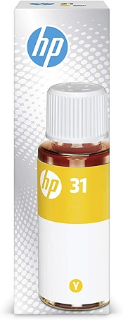 Original HP Smart Tank 355, 450, 455, 457, 551, 555, 571, 655 Yellow Ink Bottle 31 Yellow
